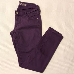 Old Navy Purple Rockstar Skinny Pants Jeans 8